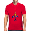 70's Ice Lolly Paint Job Hunter Fighter Jet Mens Polo