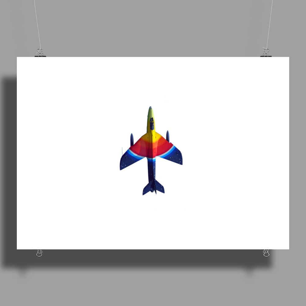 70's Ice Lolly Paint Job Hunter Fighter Jet Poster Print (Landscape)