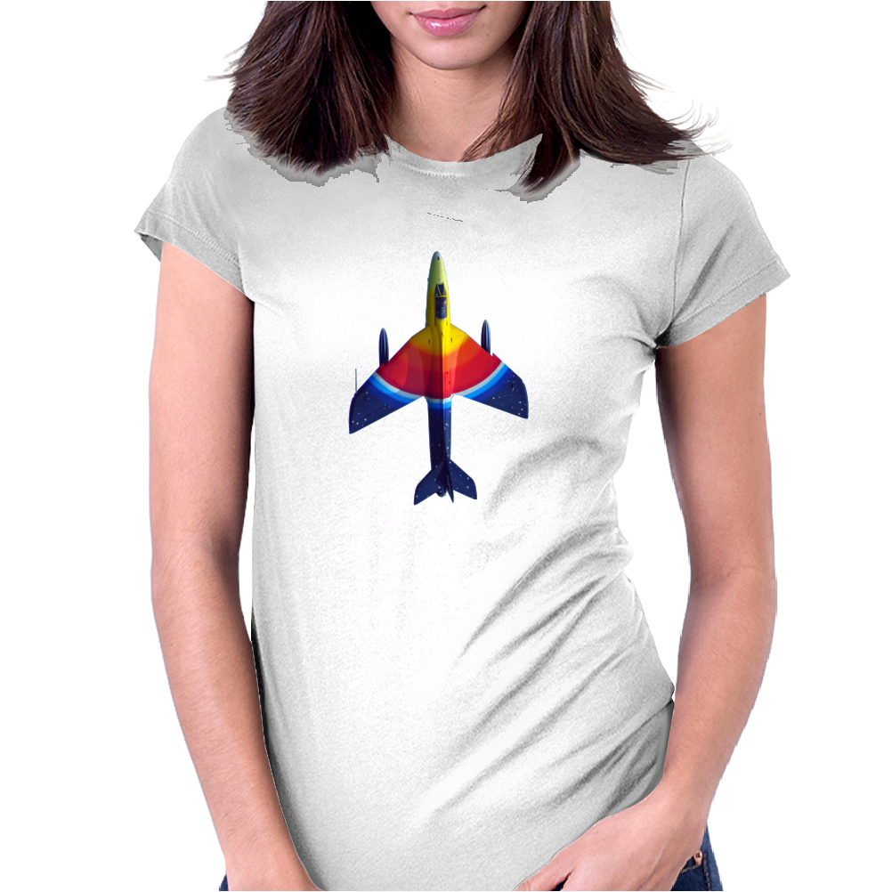70's Ice Lolly Paint Job Hunter Fighter Jet Womens Fitted T-Shirt