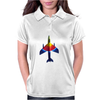 70's Ice Lolly Paint Job Hunter Fighter Jet Womens Polo