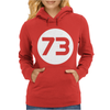 73 Distressed Circle Womens Hoodie