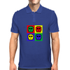 8-bit 4 color skulls Mens Polo