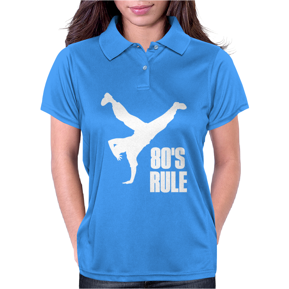 80's Rule Break Dancer Womens Polo