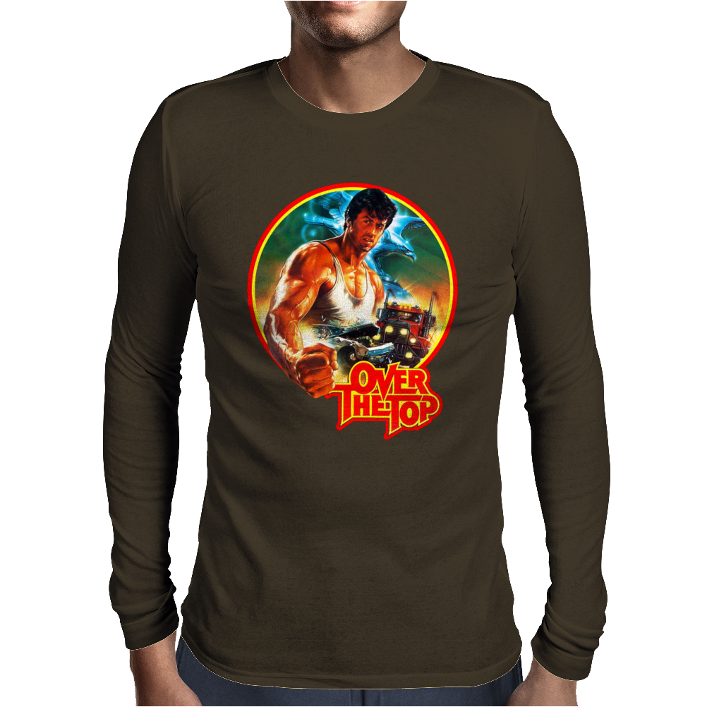 80's Stallone Classic Over the Top Movie Poster Mens Long Sleeve T-Shirt