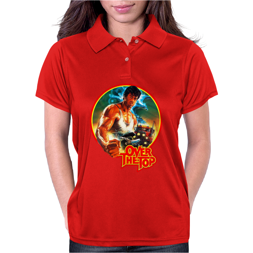 80's Stallone Classic Over the Top Movie Poster Womens Polo