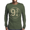 9 3-4 Hogwarts Mens Long Sleeve T-Shirt