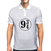 9 3/4 White Sticker Mens Polo