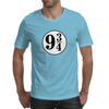 9 3/4 White Sticker Mens T-Shirt