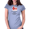 911:What is your emergency ...Ilove you, hang up no you hang up first hang up! Womens Fitted T-Shirt
