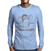 98% CHIMPANZEE Mens Long Sleeve T-Shirt