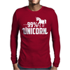 99% Unicorn Mens Long Sleeve T-Shirt