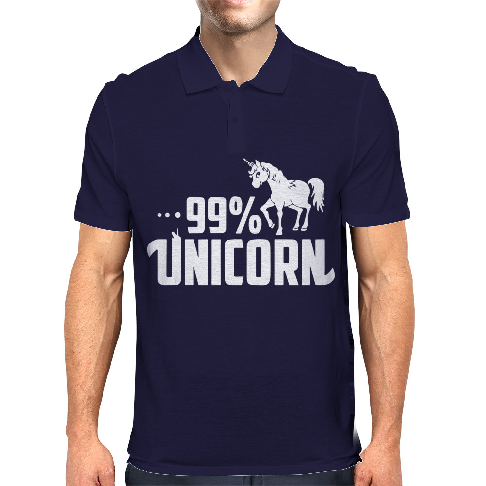 99% Unicorn Mens Polo