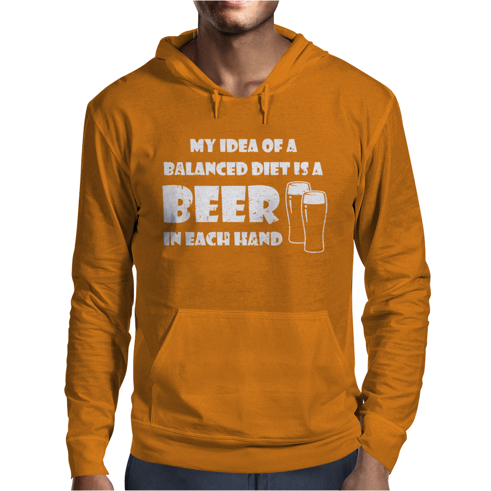 A Balanced Diet Is A Beer In Each Hand Mens Hoodie