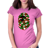 A Bathing Ape Camo Big Ape Head 2016 Womens Fitted T-Shirt