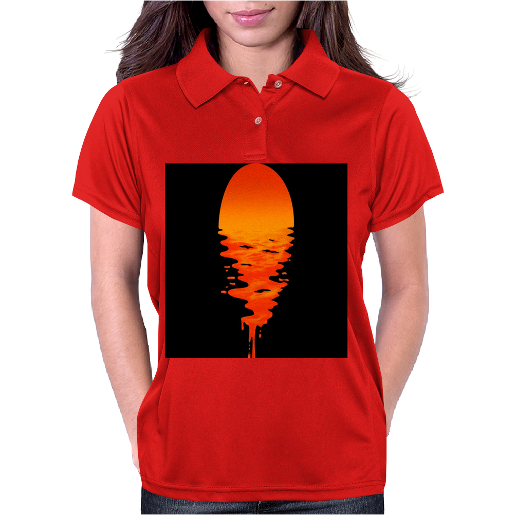 A beautiful sunset over the ocean Womens Polo
