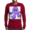 A cute Blob Monster with Huge Eyes Mens Long Sleeve T-Shirt