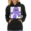 A cute Blob Monster with Huge Eyes Womens Hoodie