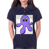 A cute Blob Monster with Huge Eyes Womens Polo