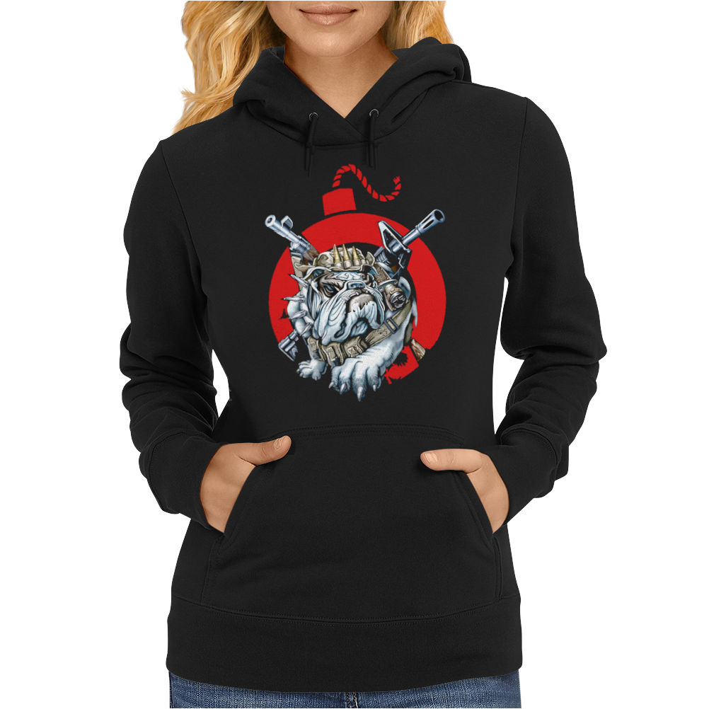 A deadly attack on the bulldog Womens Hoodie