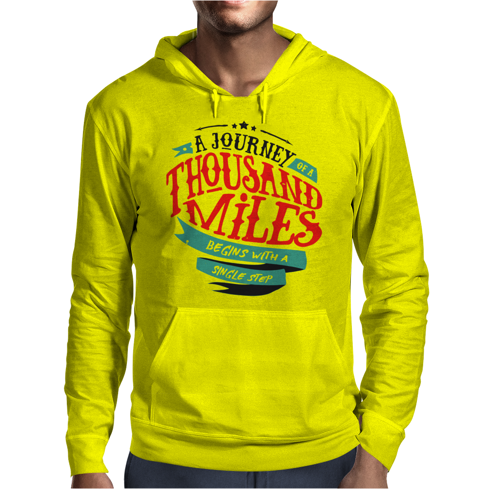 A Journey Of Thousand Miles Mens Hoodie