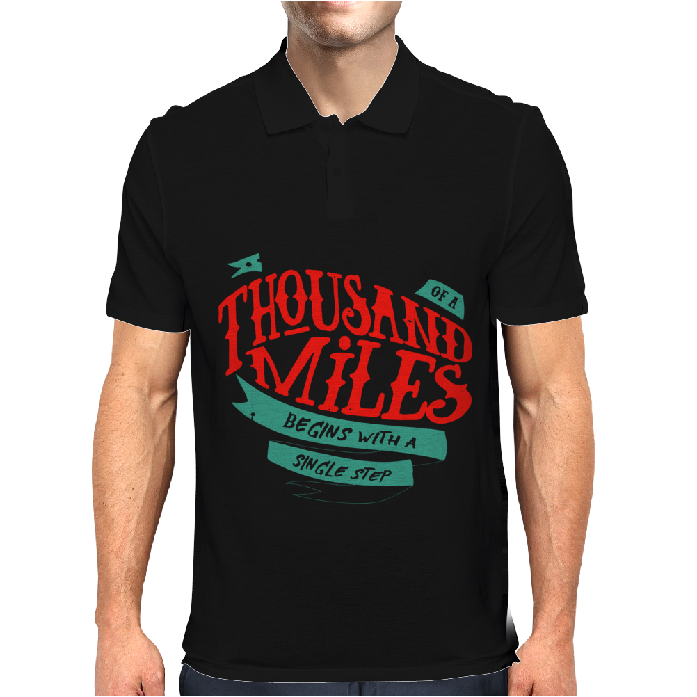 A Journey Of Thousand Miles Mens Polo
