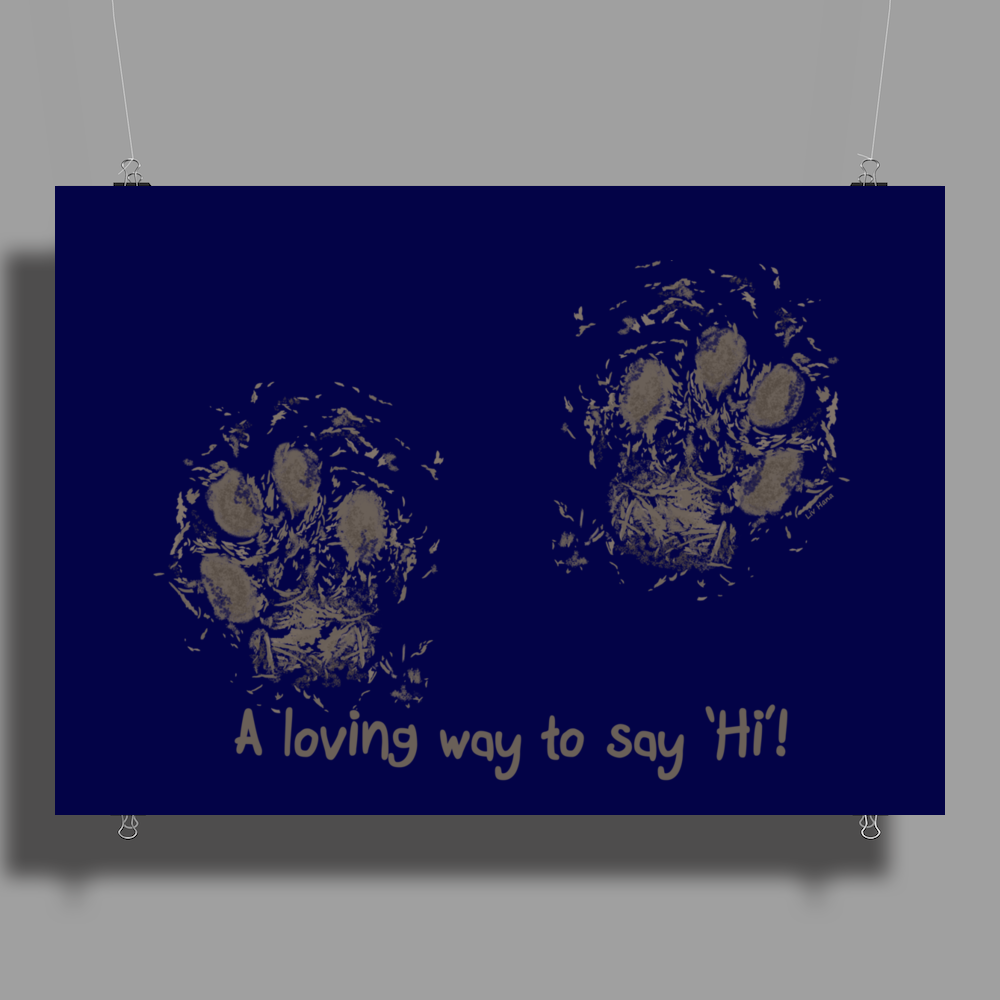 A loving way to say 'Hi'! Poster Print (Landscape)
