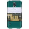 a raining day in the city somewhere in Europe Phone Case