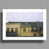 a raining day in the city somewhere in Europe Poster Print (Landscape)