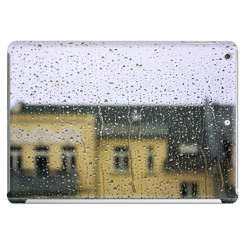 a raining day in the city somewhere in Europe Tablet
