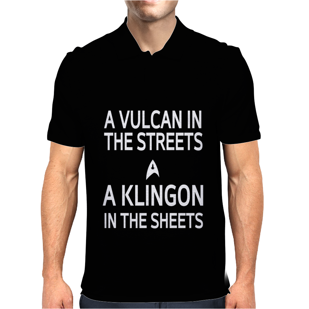 A Vulcan In The Streets A Kligon In The Sheets Mens Polo