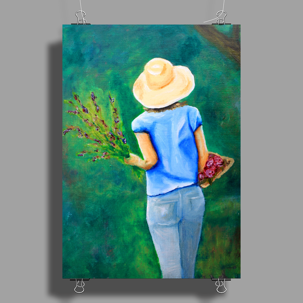 A Walk in the Backyard Poster Print (Portrait)