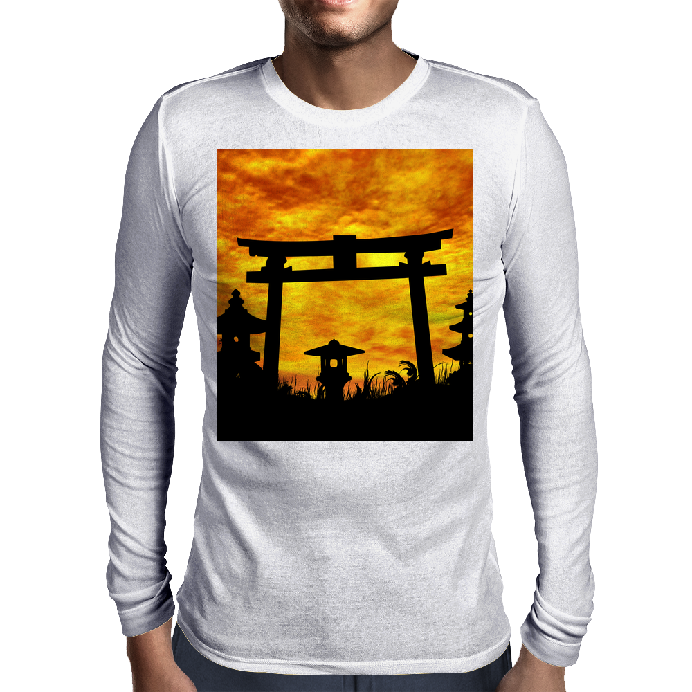 Abandoned Gate   Mens Long Sleeve T-Shirt