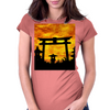 Abandoned Gate   Womens Fitted T-Shirt