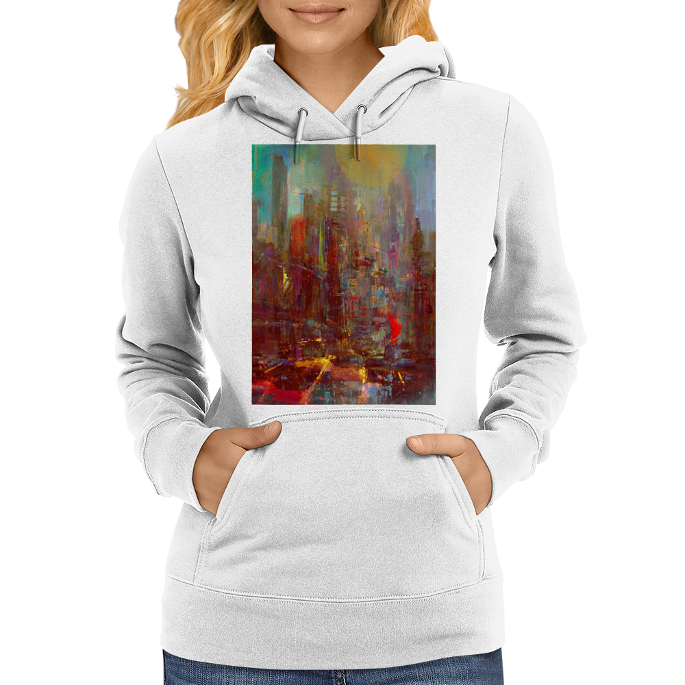 Abstract city Womens Hoodie