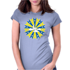 Abstract Cloudy Sky Womens Fitted T-Shirt