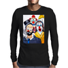 ABSTRACT CLOWNS IN SHOCK Mens Long Sleeve T-Shirt