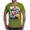 ABSTRACT CLOWNS IN SHOCK Mens T-Shirt