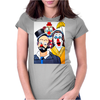ABSTRACT CLOWNS IN SHOCK Womens Fitted T-Shirt