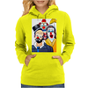 ABSTRACT CLOWNS IN SHOCK Womens Hoodie