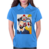ABSTRACT CLOWNS IN SHOCK Womens Polo