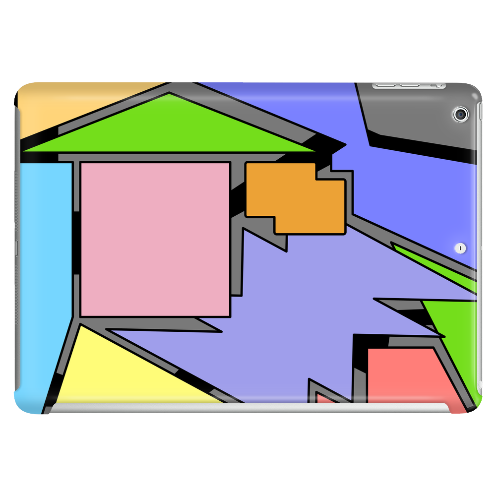 Abstract Colored Shapes Tablet (horizontal)