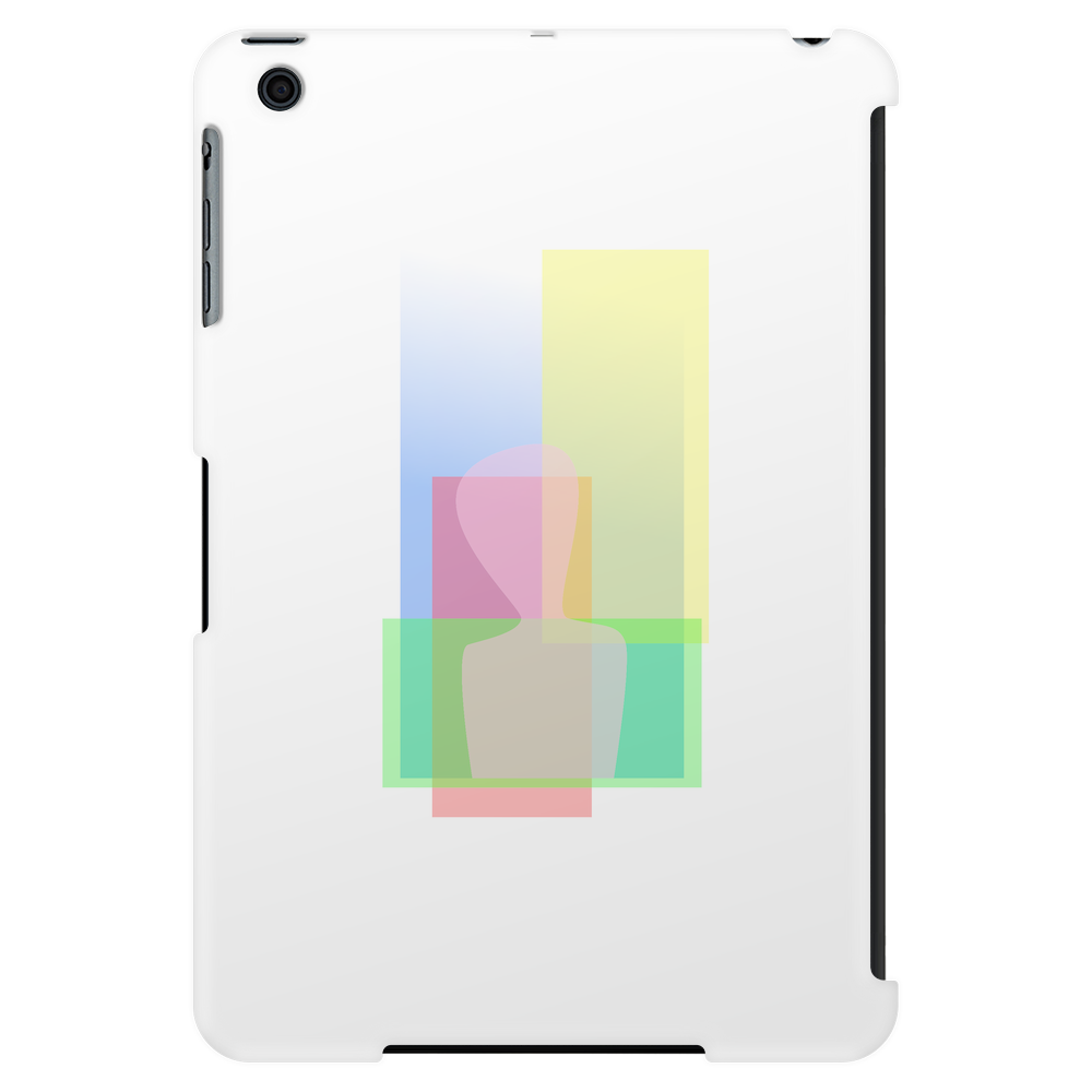 Abstract human transparent Tablet (vertical)
