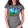 Abstract Love Womens Fitted T-Shirt