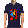 ABSTRACT  MISS TULIP Mens Polo