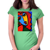 ABSTRACT  MISS TULIP Womens Fitted T-Shirt