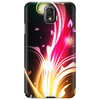 Abstract Neon Flower Design Phone Case