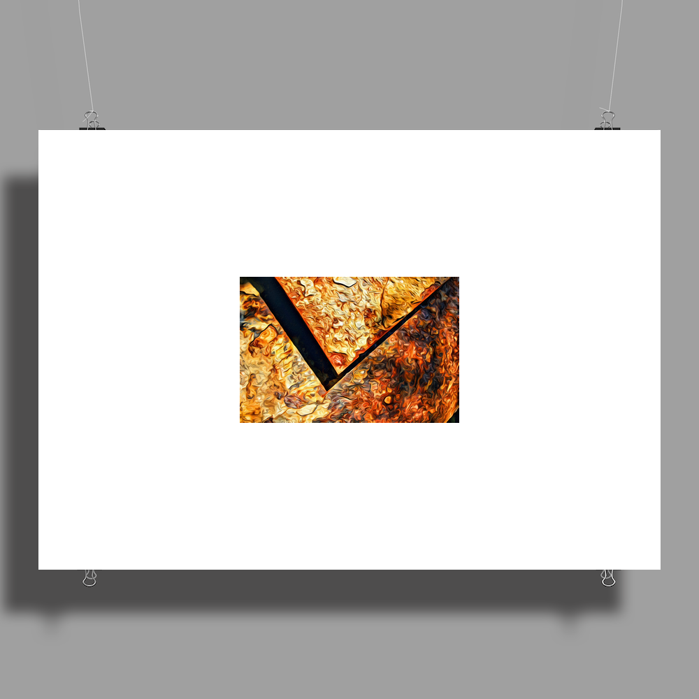 Abstract rust Poster Print (Landscape)