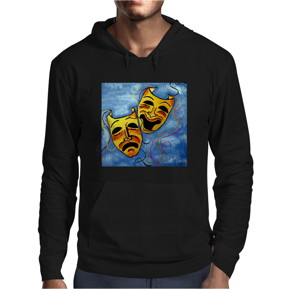 ABSTRACT,  TRAGEDY AND COMEDY Mens Hoodie