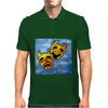 ABSTRACT,  TRAGEDY AND COMEDY Mens Polo