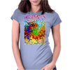 Abstractly Colorful Womens Fitted T-Shirt